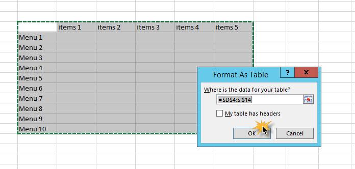 ใส่สีตารางสลับกัน Excel 2013-3