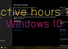 Active Hours Windows 10 คืออะไร ??