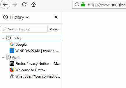การเข้าดูประวัติเว็บไซต์ Google Chrome Firefox IE-5