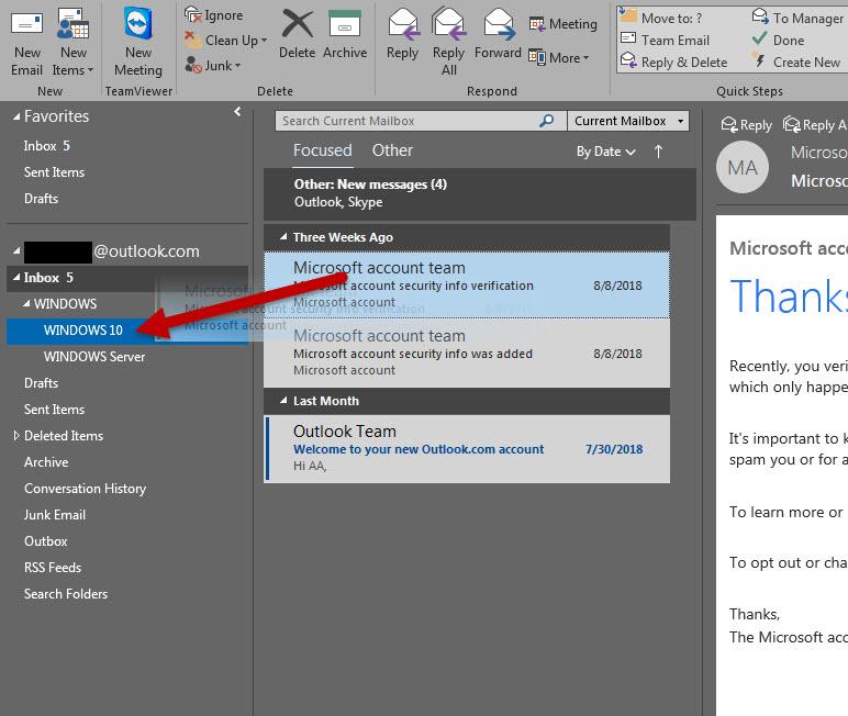 สร้าง Folders ใน Microsoft Outlook-5