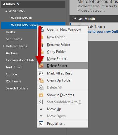 สร้าง Folders ใน Microsoft Outlook-6