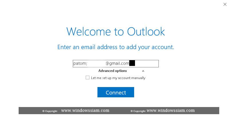 ดูดอีเมล์ @Gmail ใส่ Outlook-1