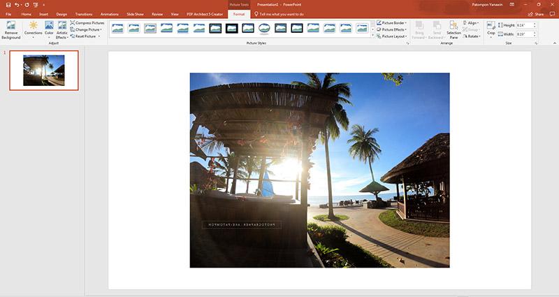 กลับด้านรูปภาพ Word - PowerPoint-6