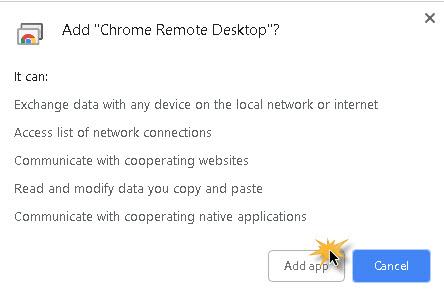 การใช้งาน Chrome remote Desktop -2