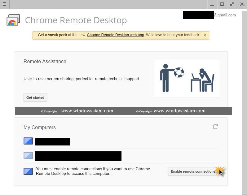 การใช้งาน Chrome remote Desktop -5