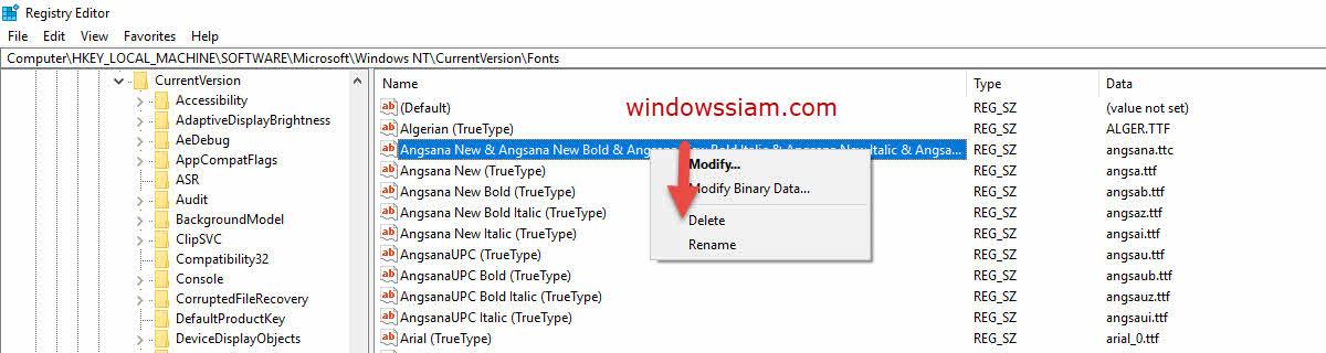 ฟอนต์มีปัญหาในปริ๊น Print Windows 10-2