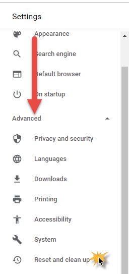 การแก้ไขการติดมัลแวร์ Google Chrome ป๊อปอัพ-3