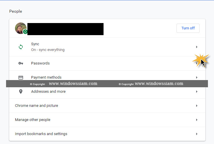 ลบจำรหัสผ่าน Google Chrome-2