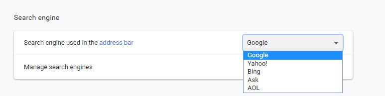 ตั้งค่าค้นหา Google Chrome-2