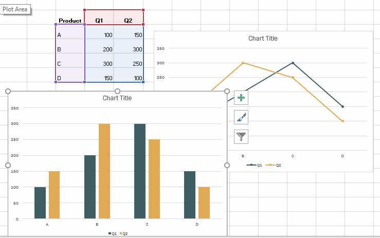 ทำกราฟแท่ง กราฟเส้น Excel-5