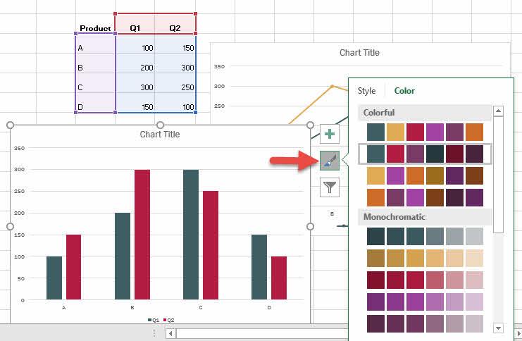 ทำกราฟแท่ง กราฟเส้น Excel-6
