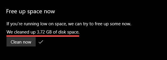 Storage sense Windows 10-8