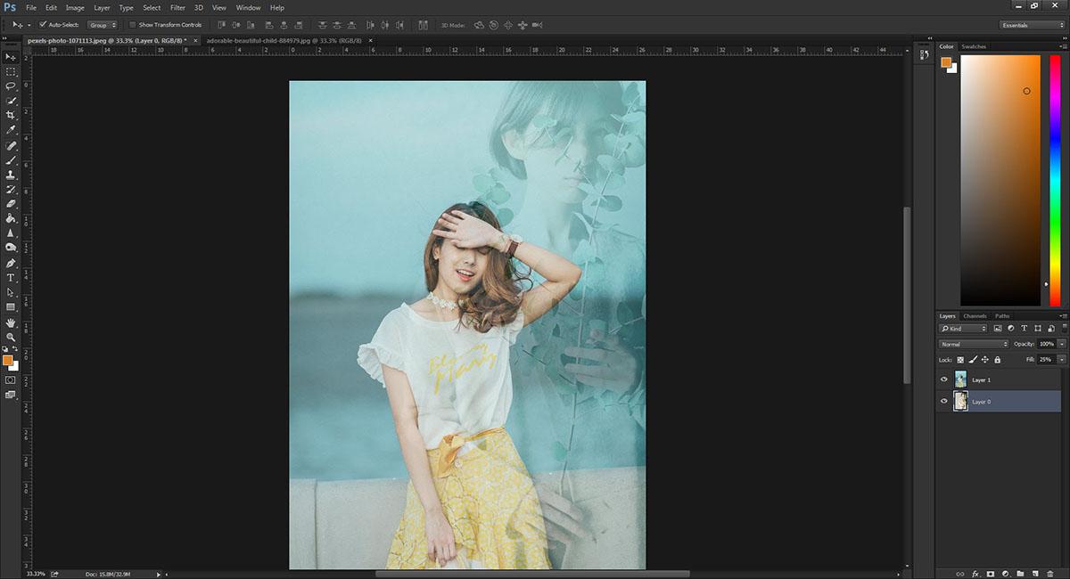 การซ้อนภาพ Photoshop CC-6