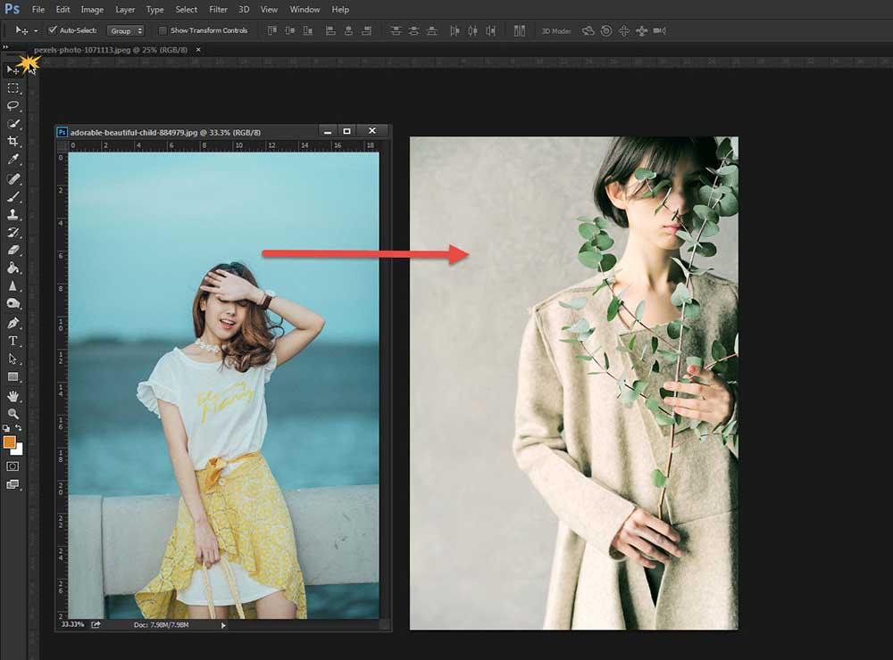 การซ้อนภาพ Photoshop CC-7