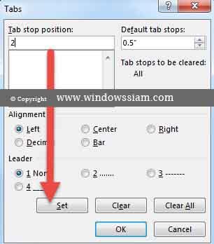 การใช้ Tab Microsoft Word อย่างฉลาด-5