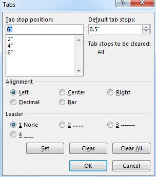 การใช้ Tab Microsoft Word อย่างฉลาด-6