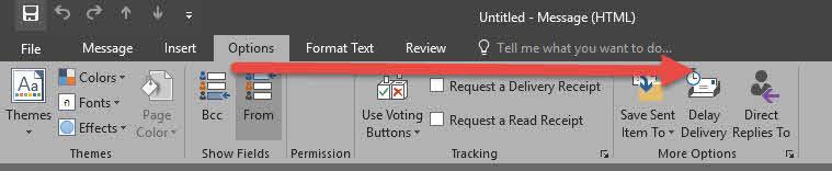 ตั้งเวลาล่วงหน้าส่งอีเมล์ Outlook 2016-2