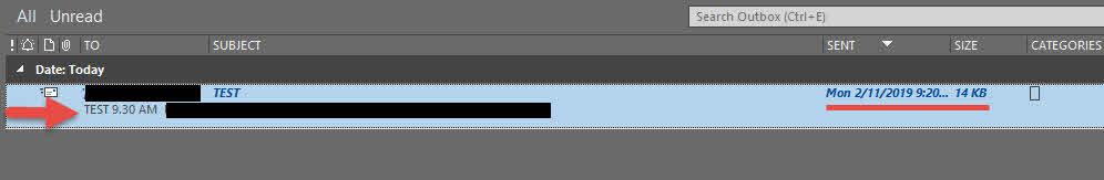 ตั้งเวลาล่วงหน้าส่งอีเมล์ Outlook 2016-4