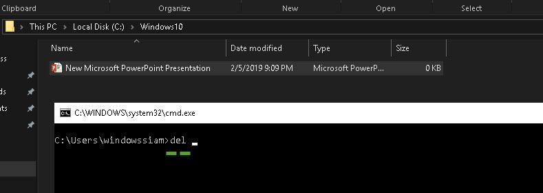 ลบไฟล์ Windows 10-5