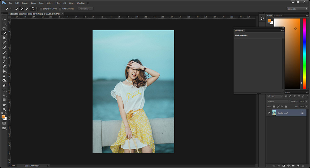 วิธีตัดรูป Photoshop CC -1