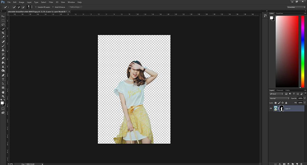 วิธีตัดรูป Photoshop CC -5