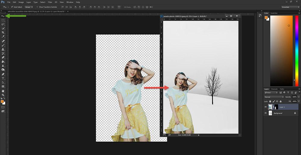 วิธีตัดรูป Photoshop CC -6