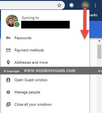 ลบรหัสผ่าน Google Chrome -1