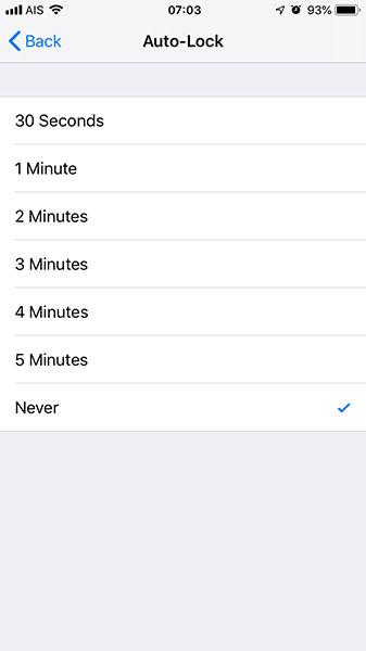 ตั้งเวลาล๊อคหน้าจอ iPhone-7
