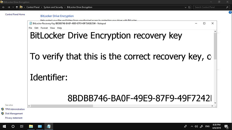 BitLocker Drive Encryption Windows 10-11