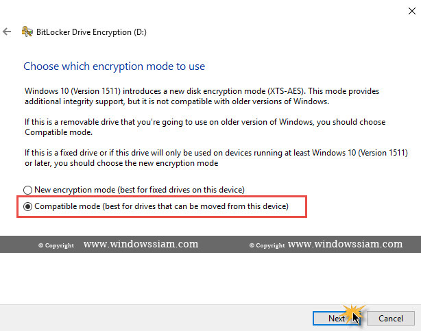 เข้ารหัสไฟล์ BitLocker Windows 10 Encryption | WINDOWSSIAM