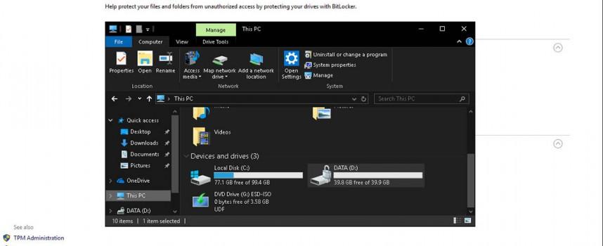 เข้ารหัสไฟล์ BitLocker Windows 10 Encryption