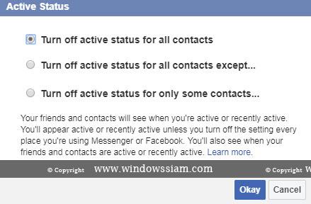 ปิดสถานะ Online Facebook-2