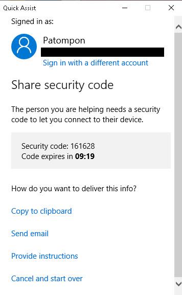 Quick Assist Windows 10-4