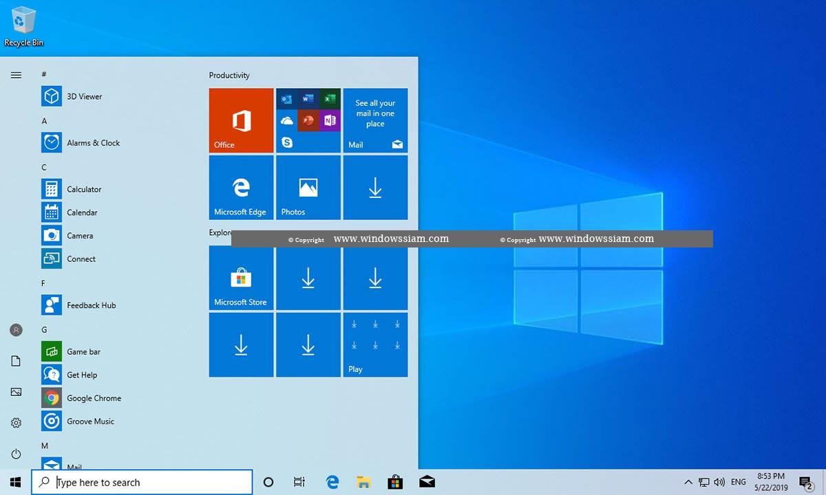 Windows 10 1903 มีอะไรใหม่มั้ง มาดูกันเลยพวกเรา | WINDOWSSIAM