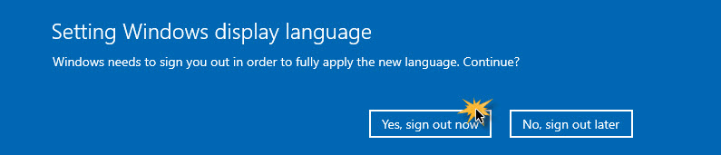 เปลี่ยนเมนุภาษาไทย Windows 10 1903-7
