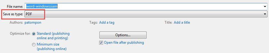 แปลง Word เป็น PDF-4