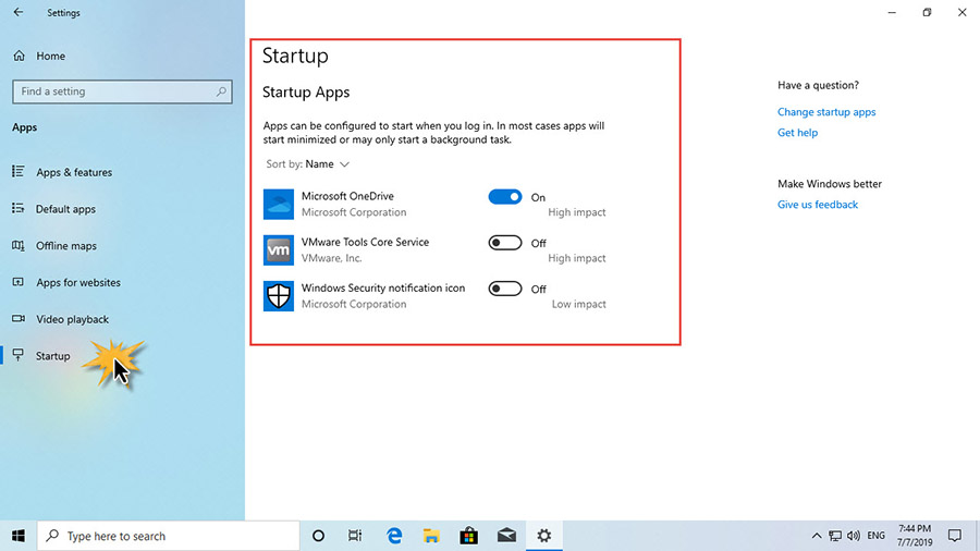 ปรับ Startup Windows 10-3