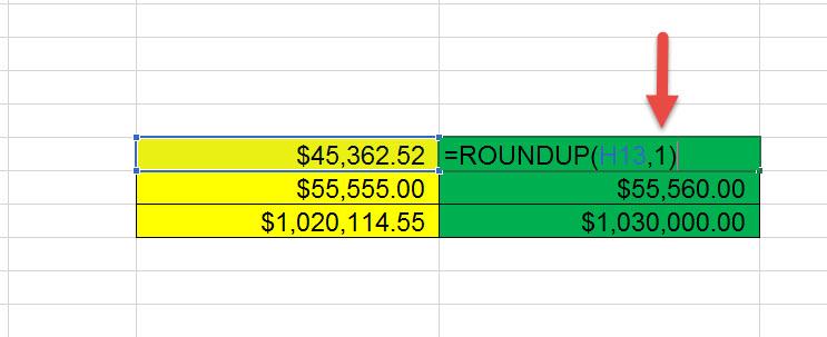 สอน Roundup Excel ปัดเสษ-2