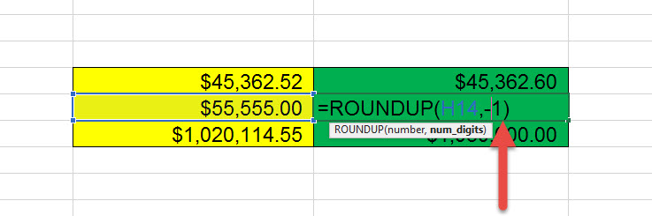 สอน Roundup Excel ปัดเสษ-3