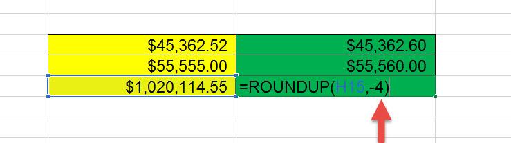 สอน Roundup Excel ปัดเสษ-4