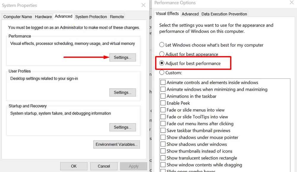 Fix Ram Windows 10
