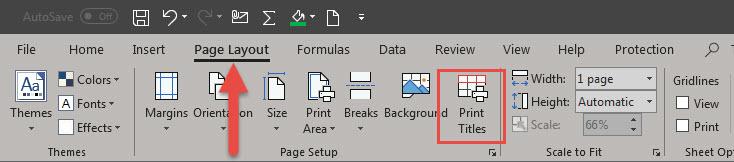 Print Area Excel การเพิ่มหัวตาราง-3