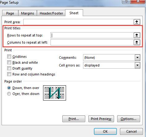 Print Area Excel การเพิ่มหัวตาราง-5