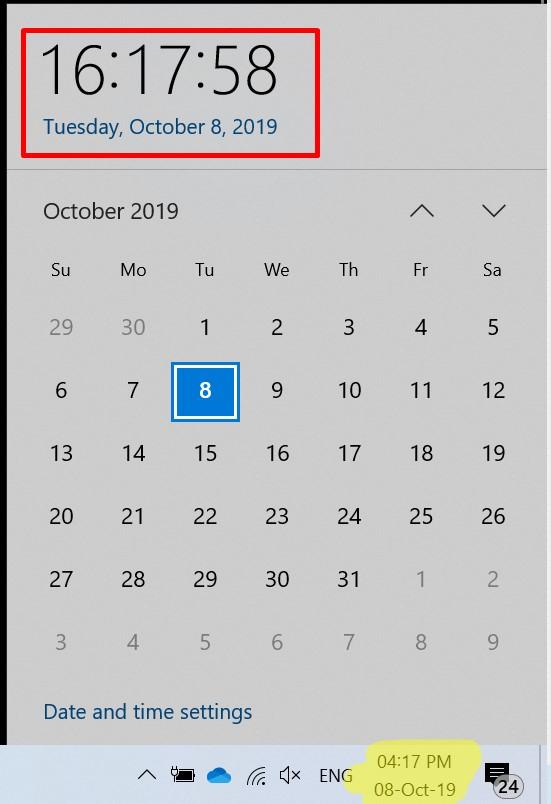 Windows 10 เวลา AM-PM 24 ชั่วโมง-3