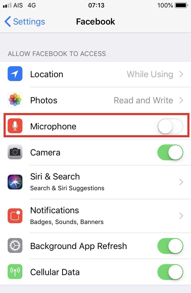 facebook ไมโคโฟน แอบฟัง -1