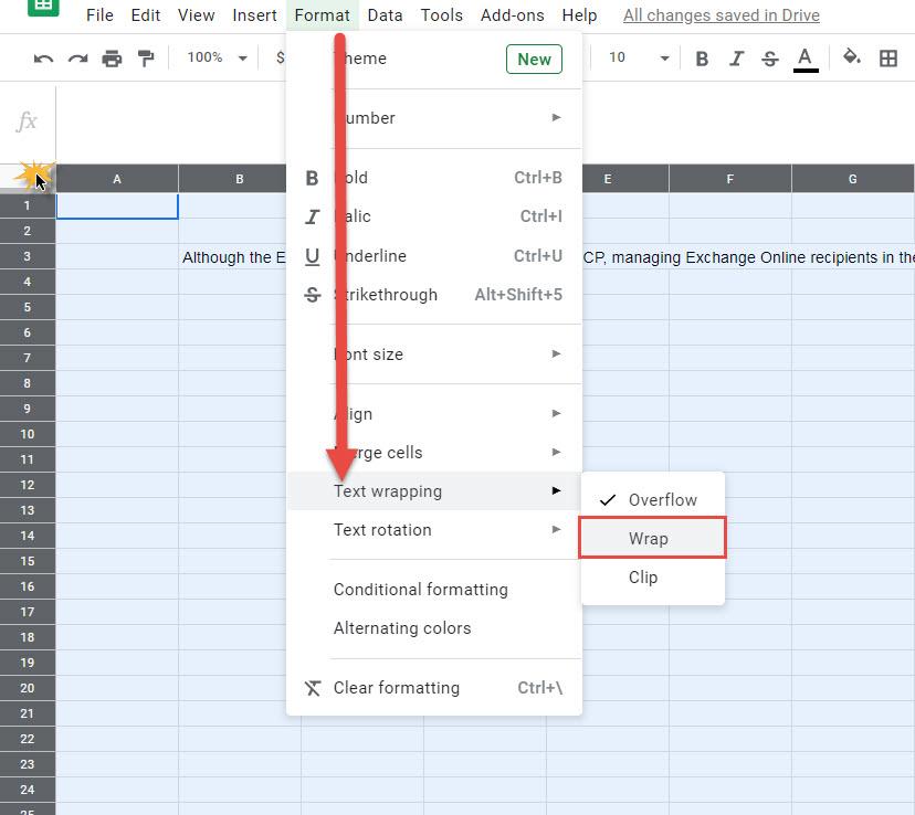 Wrap Text Excel-2