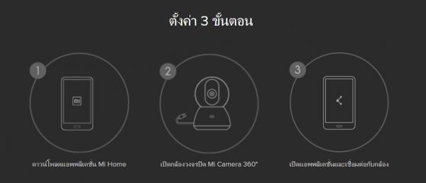 ติดตั้ง Mi กล้อง