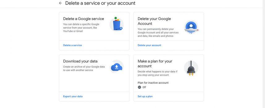 ลบบัญชี Gmail หรือลบ Account อีเมล์ Gmail