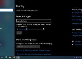 ปรับขนาดเมนูตัวอักษรให้ใหญ่ Windows 10