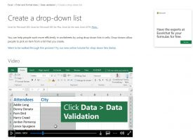 ทำเมนู Drop-Down list Microsoft Excel